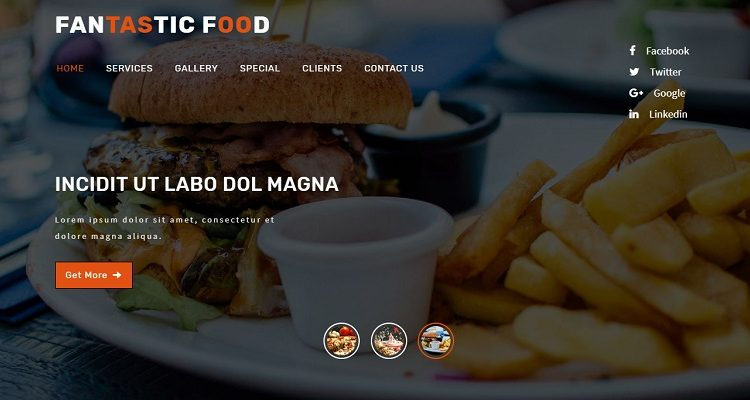 Free Restaurant HTML Website Templates