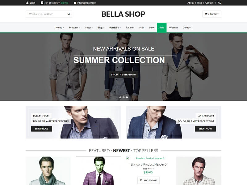 Bella Shop Best Drupal Ecommerce Themes