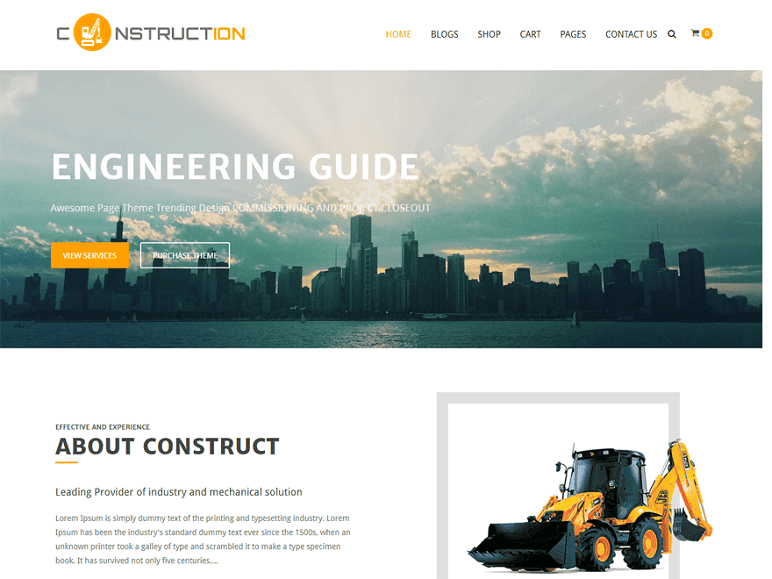Construction Lite best Free WordPress Themes