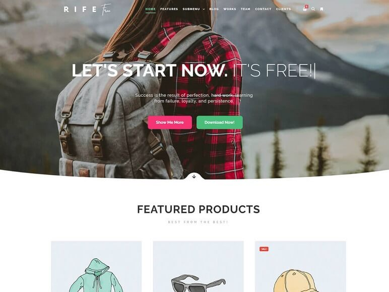Rife Free best WordPress Themes