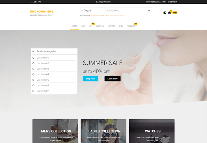 envo storefront best WordPress Themes