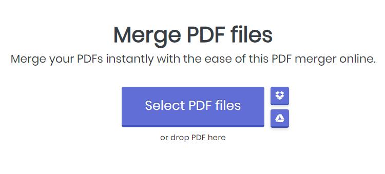 Merge PDF Tool