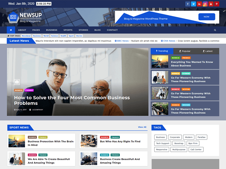 newsup best WordPress Themes