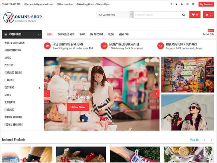 online shop best WordPress Themes