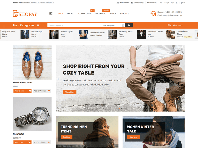 shopay best Free WordPress Themes