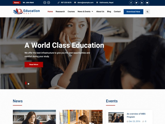 Education Soul Free Education WordPress Themes