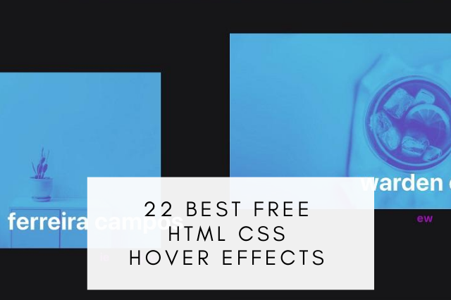 Best Free HTML CSS Hover Effects