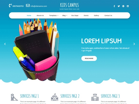 Kids Campus Free Education WordPress Themes