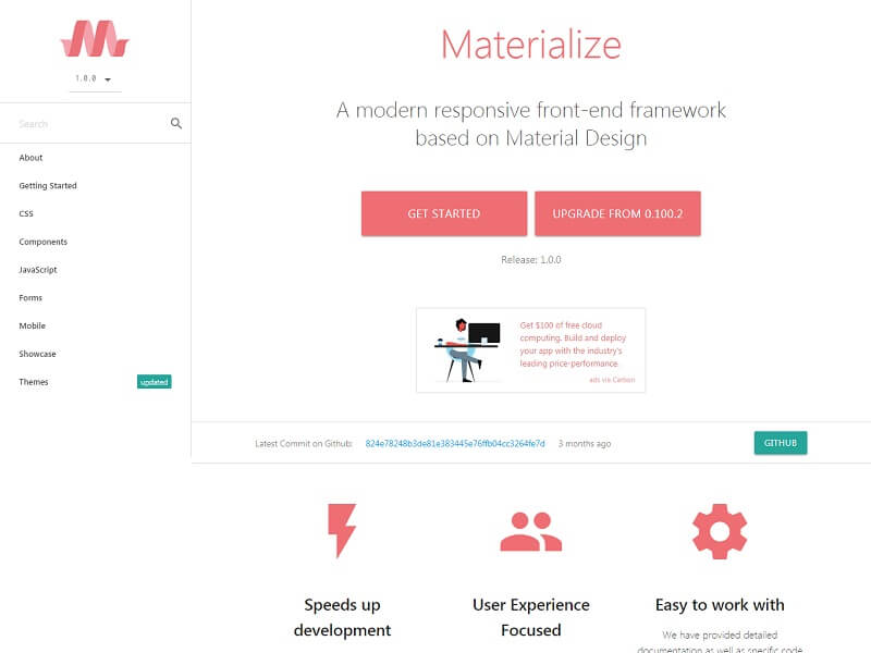 Materialize CSS Free HTML CSS Frameworks