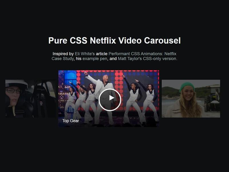 Netflix Show Carousel