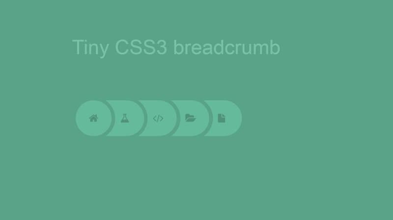 Tiny CSS3 Breadcrumb