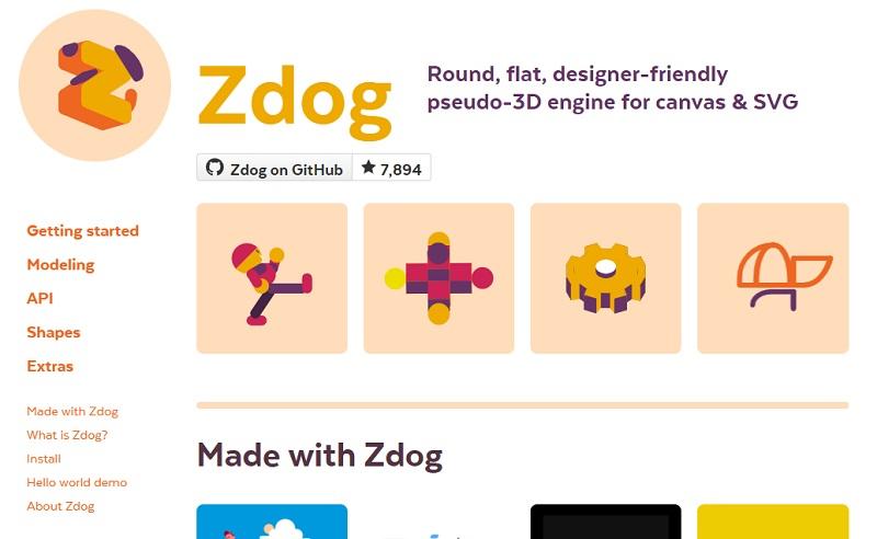 Zdog CSS Animation Libraries