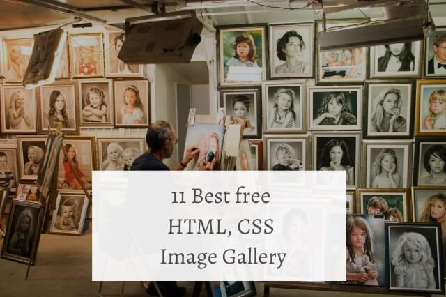11 Best free HTML CSS Image Gallery