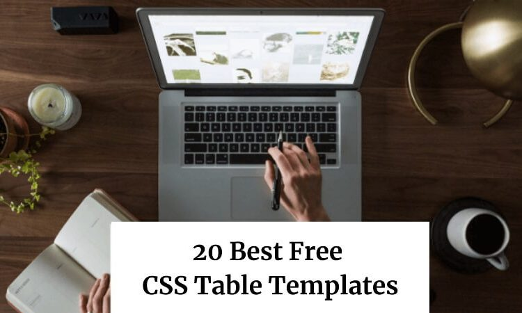 20 Best Free CSS Table Templates