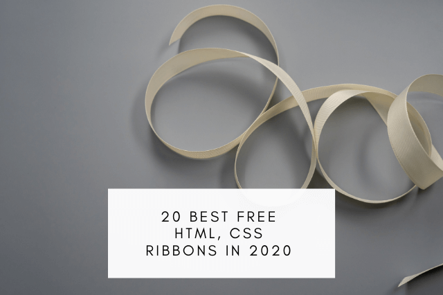 20 best free HTML, CSS RIBBONS