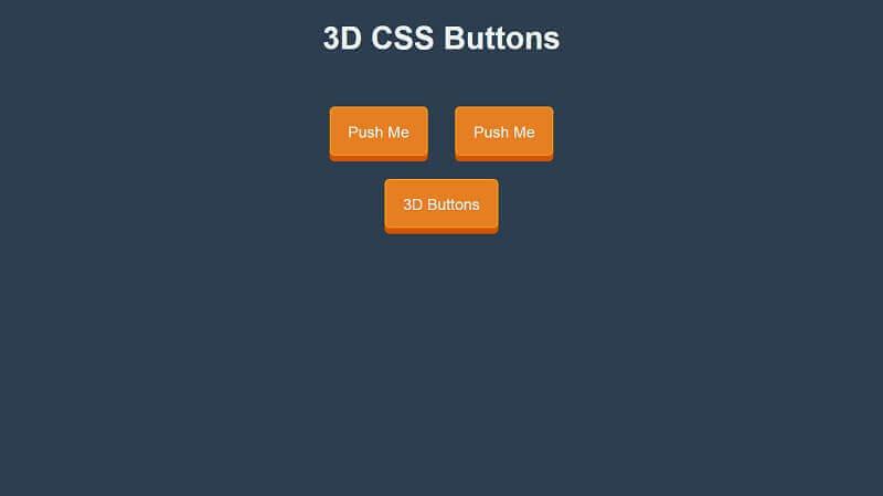 3D CSS Buttons