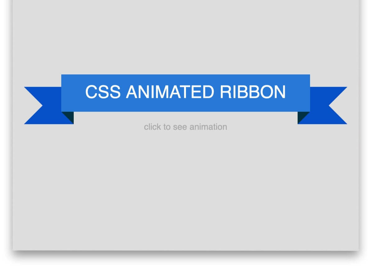 Animated Ribbon CSS