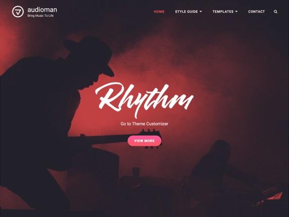 Audioman Free Music WordPress Themes