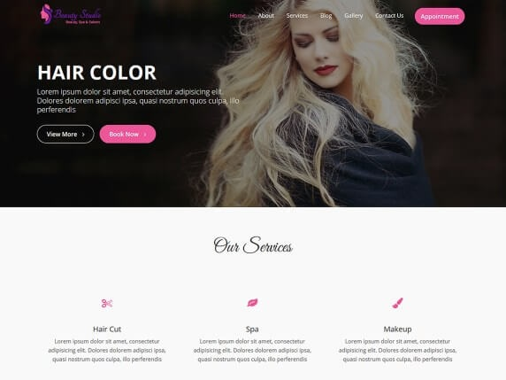 Beauty Studio Free Spa Salon Theme