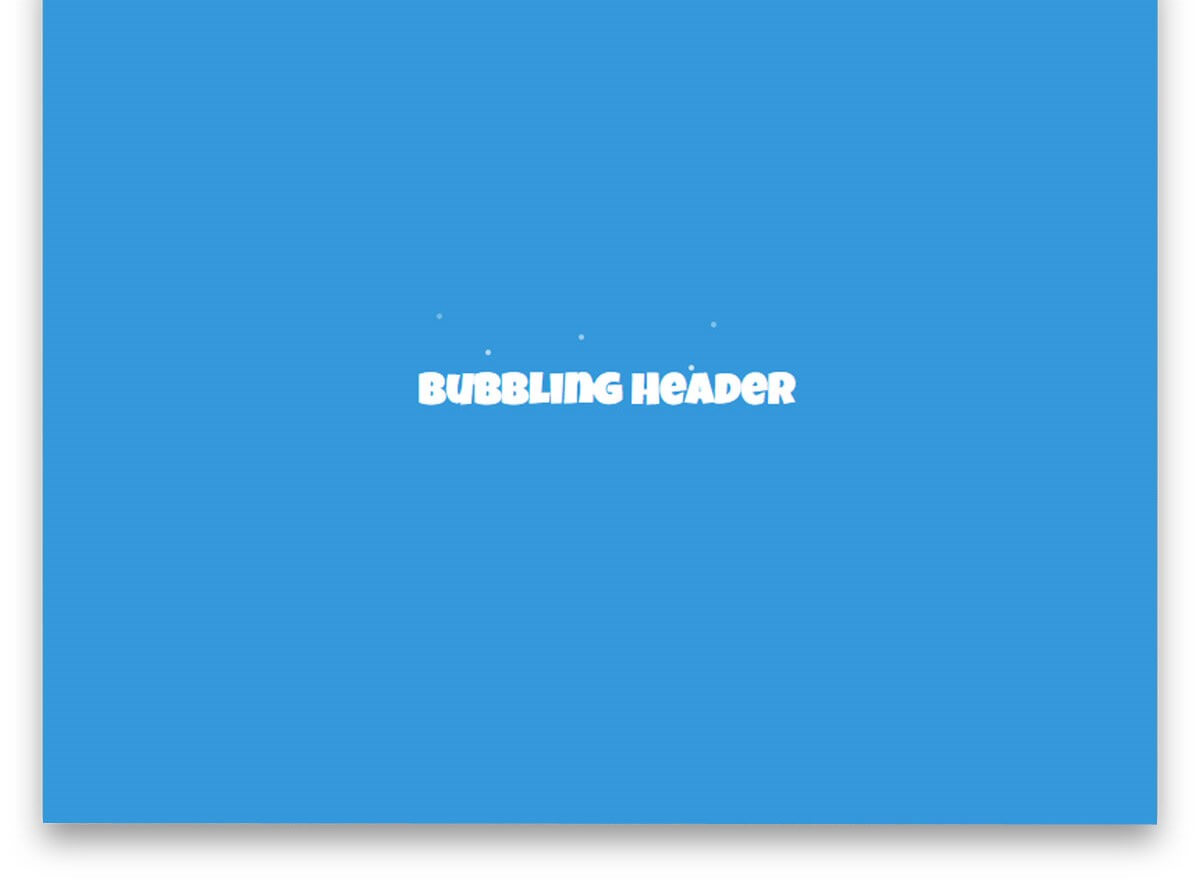 Bubbling Text Effect