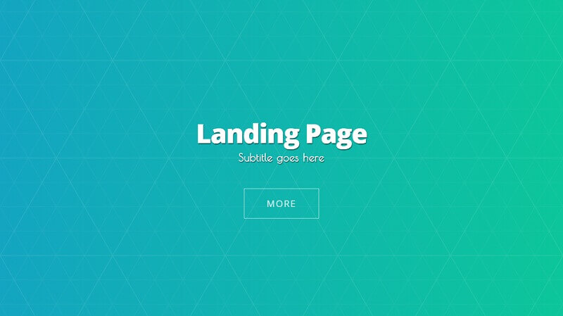 CSS Animated Background Landing Page