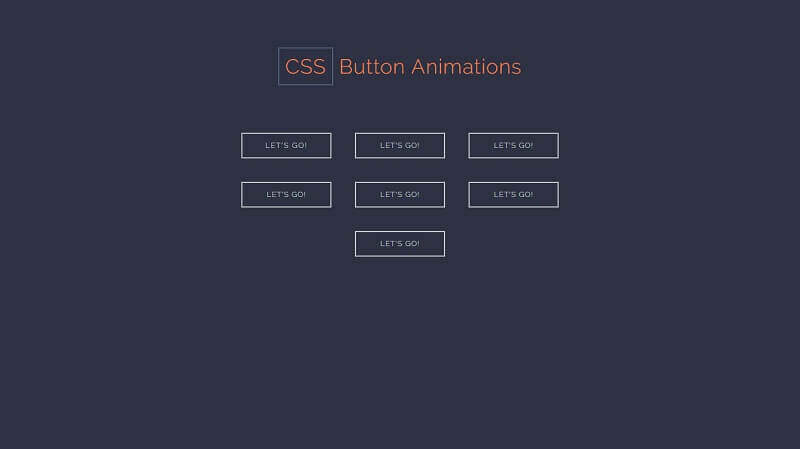 CSS Button Animations