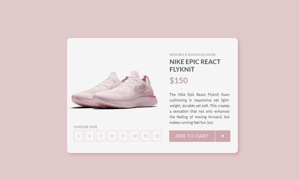 CSS Cards E Commerce Shop Card
