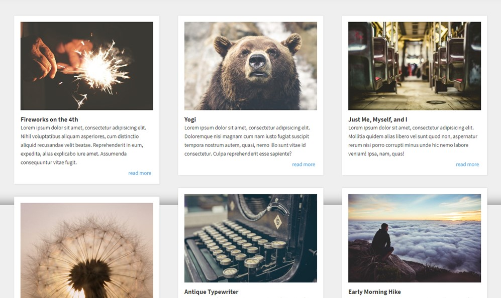CSS Cards Multi Height Grid Layout