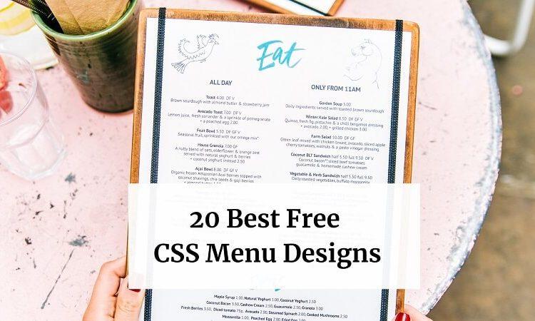 CSS Menu Designs