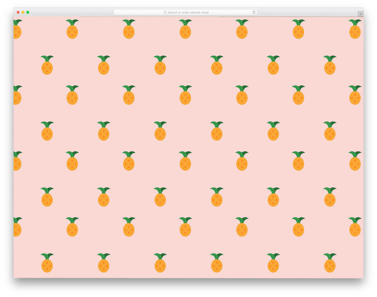 CSS Pineapple Fruit Background