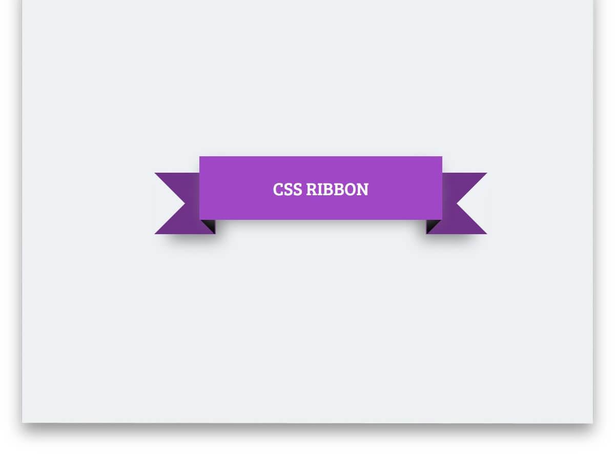 CSS Ribbon By Sameh Elalfi