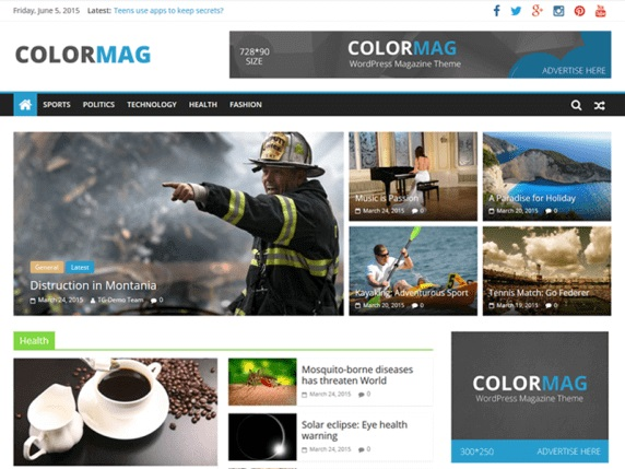 ColorMag Free Magazine WordPress Themes