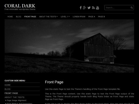 Coral Dark Free Portfolio WordPress Theme