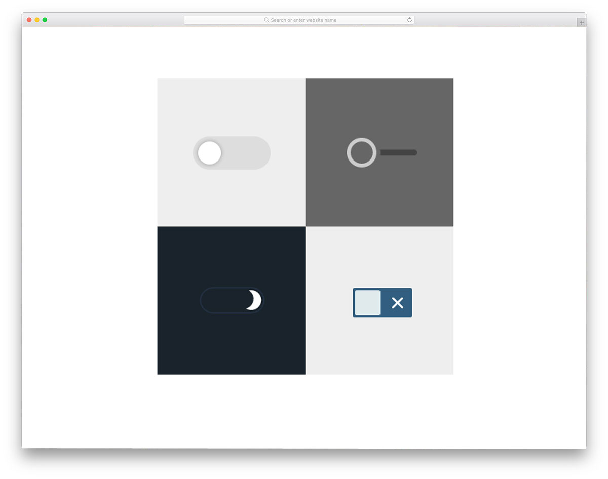 Custom Checkbox Toggle Switch Free HTML CSS Checkboxes
