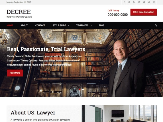 Decree Lawyer WordPress Theme