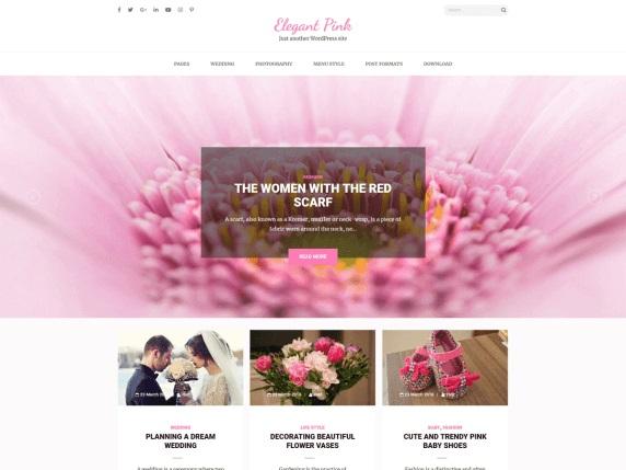 Elegant Pink Fashion WordPress Theme
