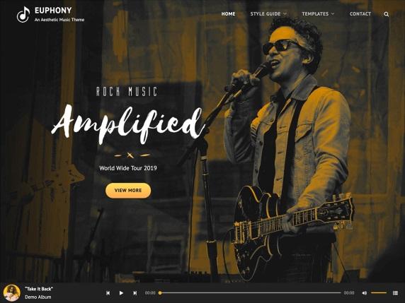 Euphony Free Music WordPress Theme