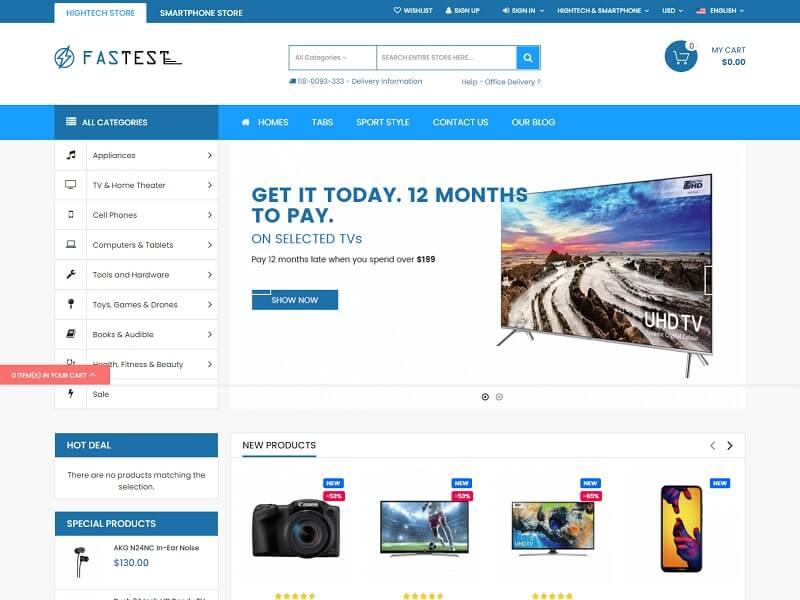 Magento Ecommerce Themes: #Fastest