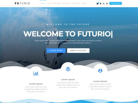 Futurio Free Landing Page WordPress Theme