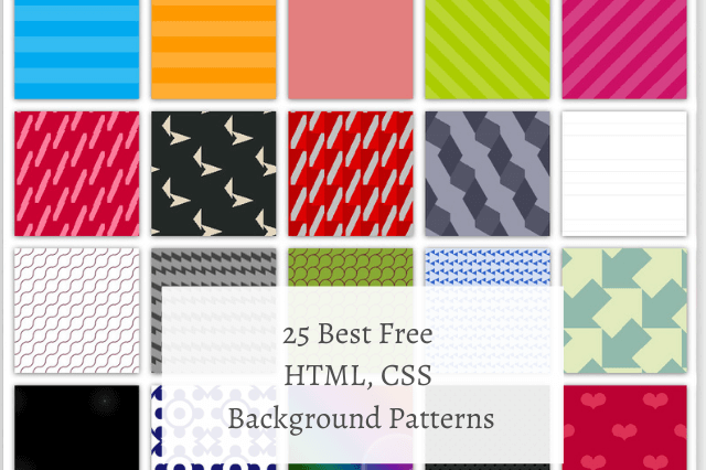 25 Best Free HTML CSS Background Patterns