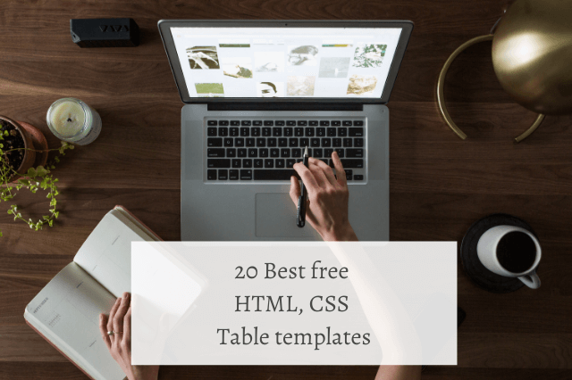 20 Best free HTML, CSS Table templates