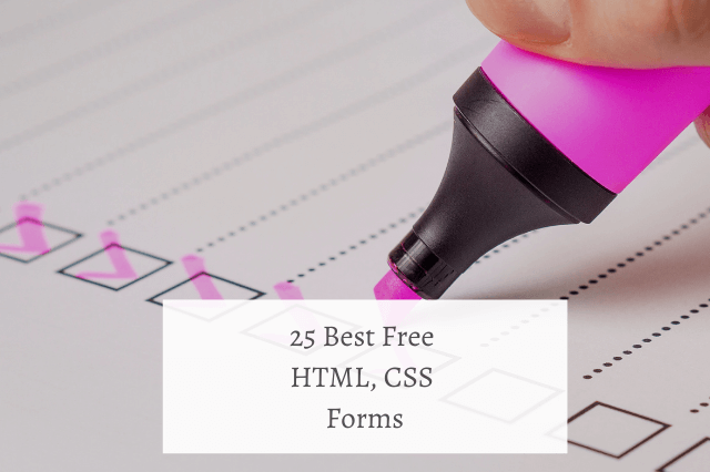 25 Best Free HTML CSS Forms