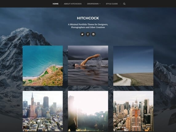Hitchcock Free Photography WordPress Theme