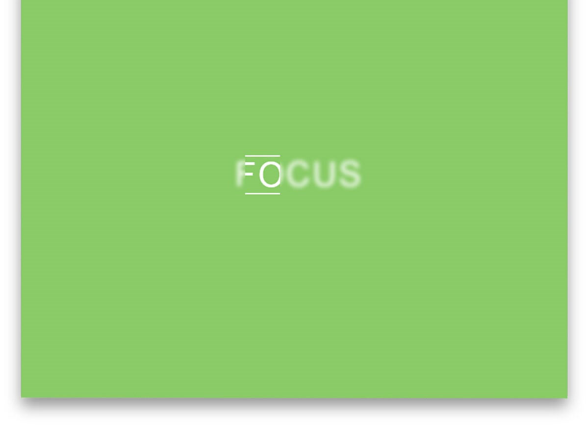 In out Of Focus Text Effect