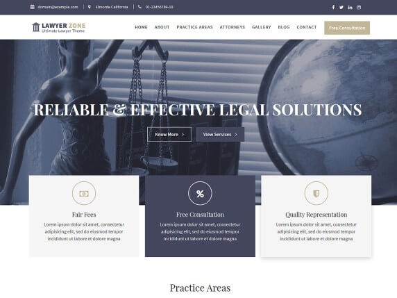 Lawyer Zone Lawyer WordPress Theme