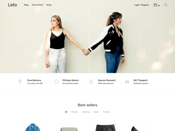 Leto WooCommerce WordPress Theme
