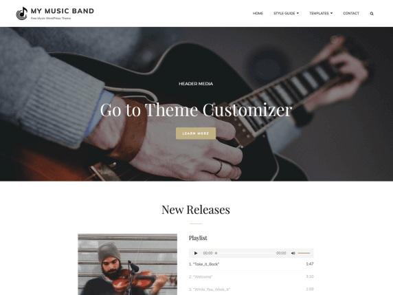 My Music Band Music WordPress Theme