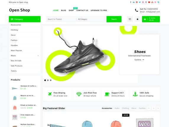 Open Shop Free WooCommerce WordPress Theme