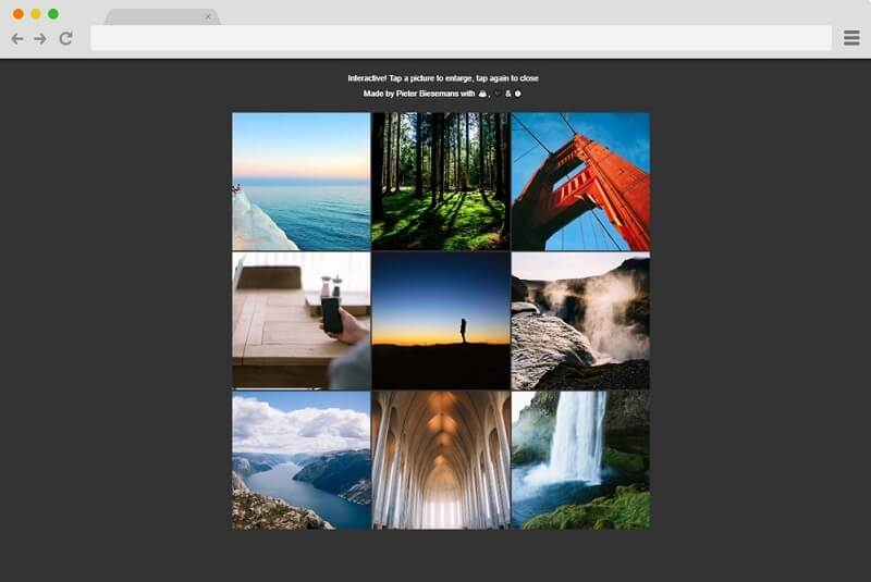 Pure CSS Responsive Gallery