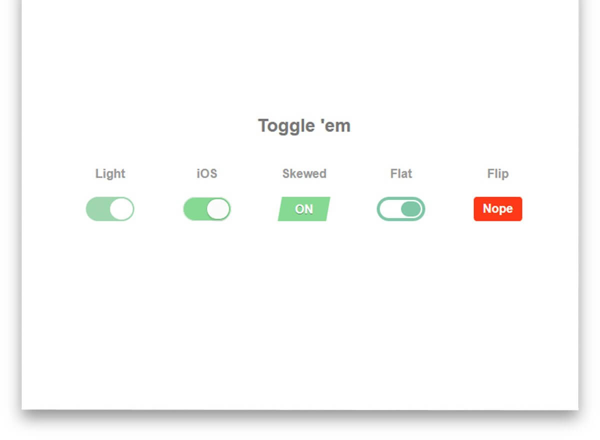 Pure CSS Toggle Buttons
